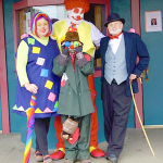 Clown School Staff and student