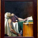J L David death of marat framed