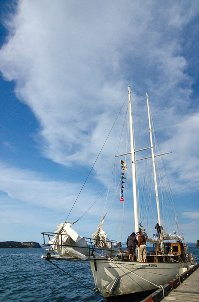 Dockside tours and sails will be available for a donation into October. (photo by Kim Tinuviel)