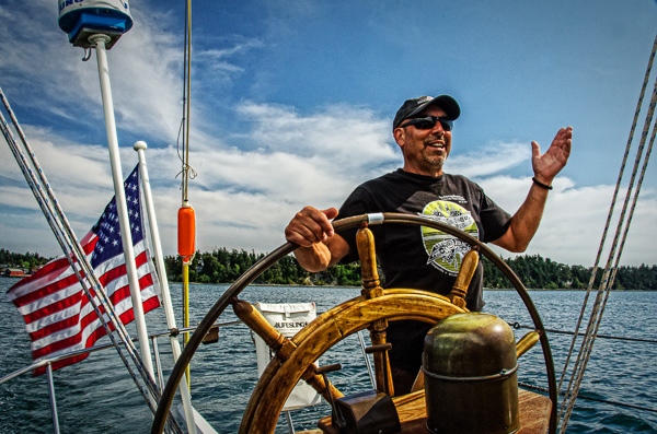 Captain Mark Saia started the Coupeville Maritime Foundation to bring the Suva home (photo by Kim Tinuviel)