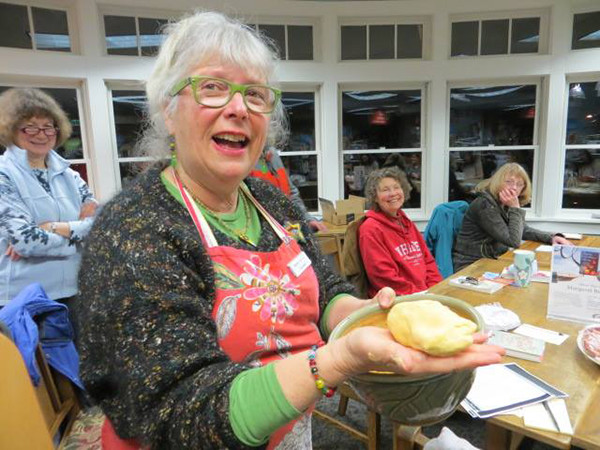 Food for Thought Book Group at Langley Library (photo by Jamie Whitaker)