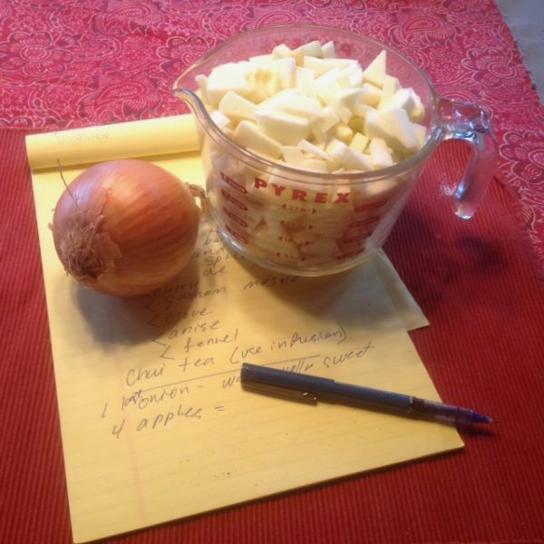 Make it up with onions and apples. (photo by Judith Walcutt)