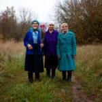 """Babushkas of Chernobyl:"" Hanna Zavorotnya, Maria Zagorna, and Maria Shovkuta. (Photo credit: Yuli Solsken)"