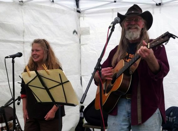 Sarah Primrose and Russell Clepper play at South Whidbey Tilth. (Photo courtesy of Clepper)