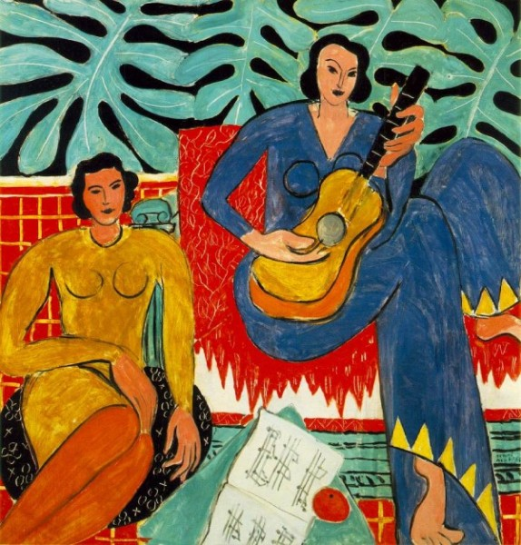 """Henri Matisse's oil on canvas,"""" La Musique"""" from 1910, reveals an artist with creativity to spare. The painting is now part of the collection of the Hermitage Museum in Saint Petersburg, Russia."""
