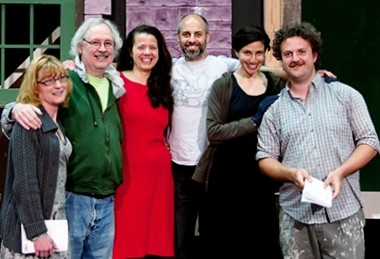Gail Liston, Phil Jordan, Julia Tewksbury, David Mayer, Laura Persaud and Michael Morgen are the brave souls that have taken on the trilogy of plays. (Photo courtesy of WICA)