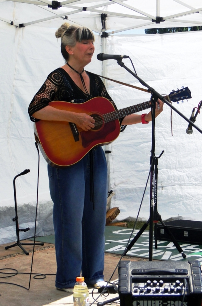 Karin Blaiine plays the South Whidbey Acoustic Music Fest at Tilth. (Emory Lingard photo)