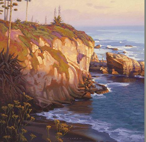 Here's a painting by frequent WIFAS instructor Jim Lamb of the California coast. (Photos courtesy of WIFAS)
