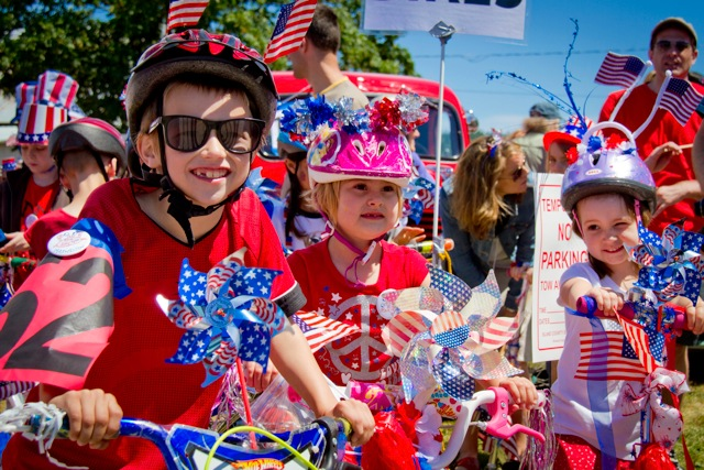 Young patriots ride with pride at the Maxwelton Fourth of July Parade in Clinton, 2012. (David Welton photos)