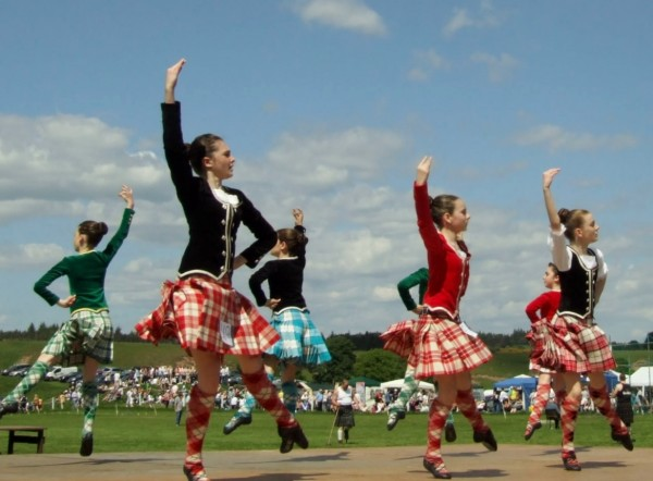 Dancers compete at  the Blackford Highland Games in Perthshire, Scotland. (Photo by clublacostablog.com)