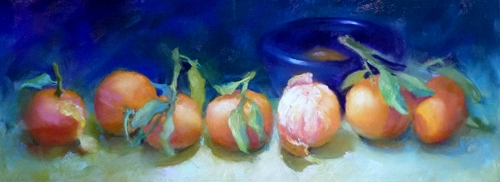 """""""Chorus Line"""" is a pastel on paper work by Faye Castle."""