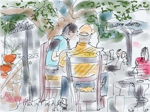 "Siri Bardarson's ""Cafe Alfredo Cappucino in Athens"" where she saw ""lots of old men visiting."" (500x374)"