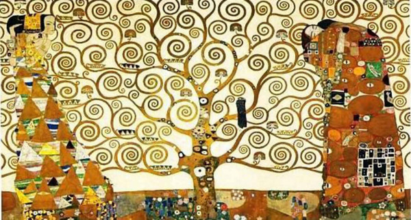 "Gustav Klimt's ""Tree of Life"" was finished in 1909. It inspired Schouten in 2013."
