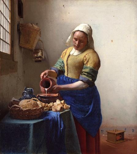 Johannes Vermeer, The Milkmaid (1658–1660) (447x500)