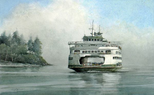 Bainbridge Ferry;WC;8x12