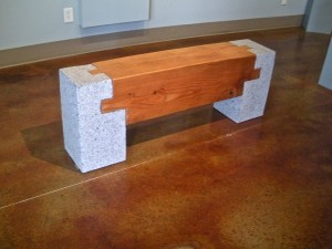 """Stone and wood bench"", granite and fir by Lloyd Whannell. (Photo by Lloyd Whannell)."