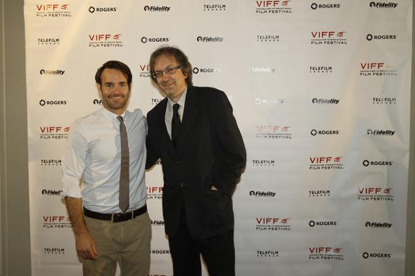Screenwriter Bob Nelson (right) with actor Will Forte (photo credit Dannie Zhao, VIFF)