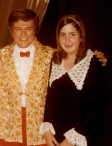 Maureen at age 13 back stage at Caesar's Palace with Liberace  (photo courtesy of the artist)