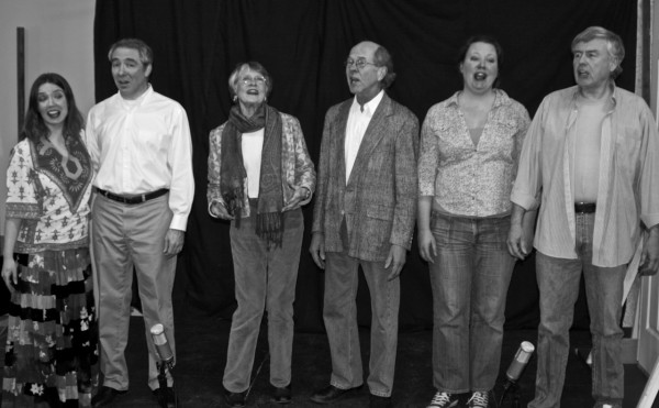 Cast names, left to right: Melanie Lowey, Ken Stephens, Gretchen d'Armand, Les Asplund, Kristie Bingham, Rich Doyle (Photo Credit: Helene Chandler )