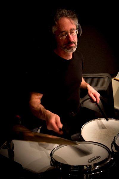 Drummer Scott Small lays down some beats at a recent rehearsal at his Lakeside Percussion Studio.