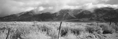Mountains and Fence Posts by Sharon Shoemaker WLM.com