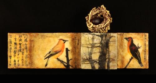 RSGallery - Kathleen Otley - encaustic 3d w_willow nest  (500x266)