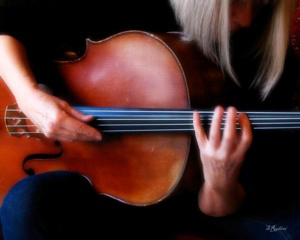 "Siri Bardarson plays her ""beautiful French acoustic cello."""