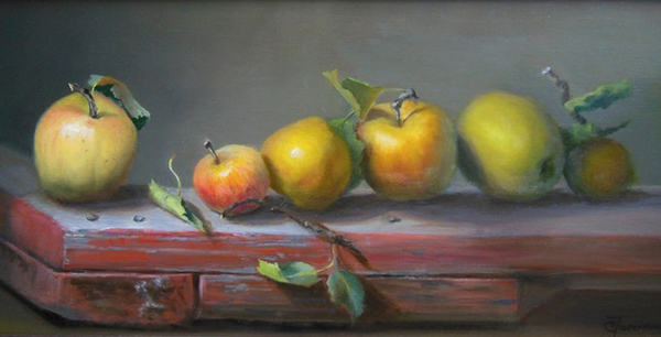 """From our Tree,"" oil on linen   (photo courtesy of the artist)"