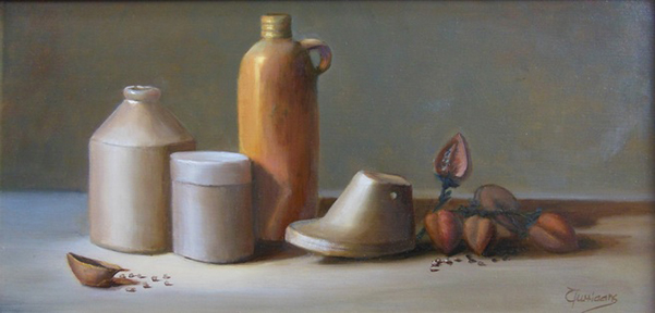"""Hommage to Morandi,"" oil on linen  (photo courtesy of the artist)"