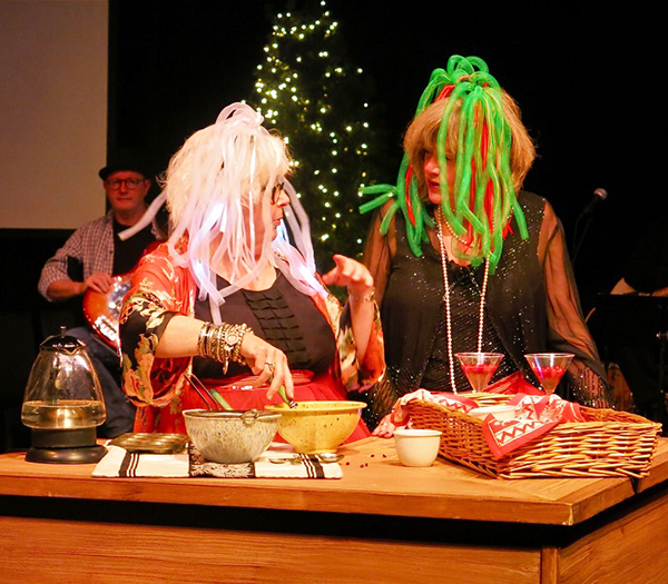 "Denise LaRue showed host Sue Frause how to make her favorite Christmas treats during ""Home for the Holidays."" (photo courtesy of Sue Frause)"