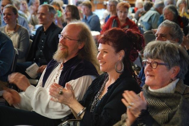 Matt Hoar, Shevaun Wright and Mary Ann Mansfield enjoy the evenings entertainment.
