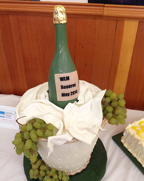Congratulatory cake created for WLM by John _________ of JW Desserts, celebrating the magazine's launch  (photo by Vicky Brown).