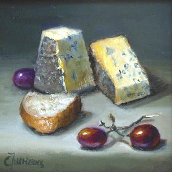 """Fromages Bleu,"" oil  (photo courtesy of the artist)"