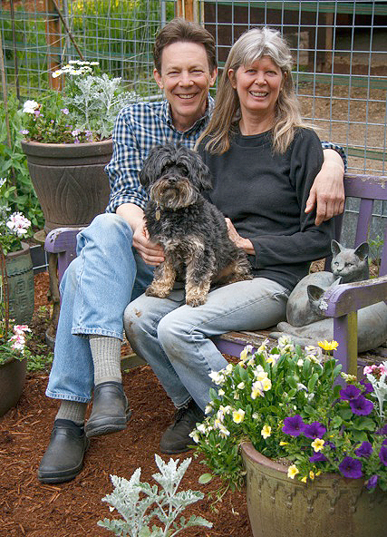 Georgia, husband Randy Hudson and dog Arlo   (photo by David Welton)