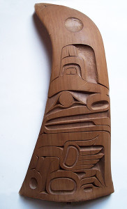 One of two whale fin carvings designed by Roger Purdue that were a prototype for a possible kinetic sculpture (photo courtesy of Sara Purdue)
