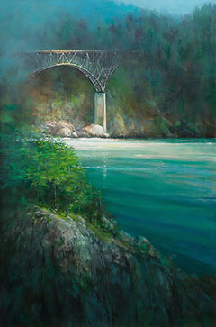 """""""Deception,"""" an acrylic by Richard Engstrom. / Photo courtesy of the artist"""