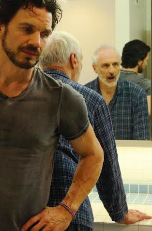 "(Michael Worth and Michael Gross in a scene from the film ""Our Father.""  Photo by Malik Sooch)"