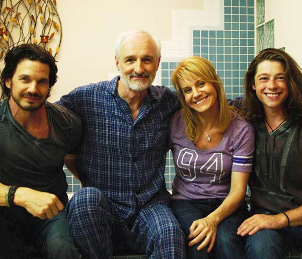 (Four of the cast members, left to right: Michael Worth, Michael Gross, Eileen Grubba and David Topp  Photo by Malik Sooch)