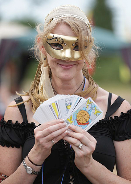 Tarot card reader and ISF board member Kris McRae