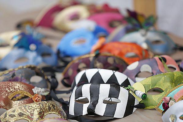 Masks Awaiting Revelers