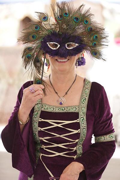 Masked reveler