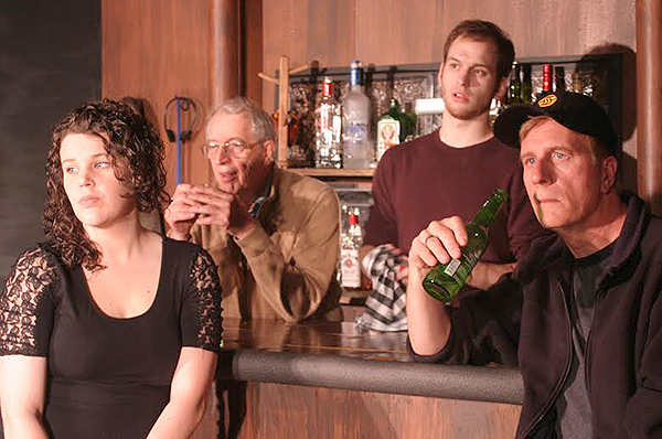 "Rachel Grove, Ed Cornachio, Gabe Harshman and Ned Farley in ""Yankee Tavern""  (photo by Patricia Duff)"