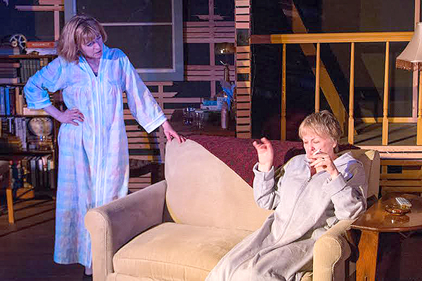 """Gail Liston and Sandy O'Brien in """"August: Osage County""""  (photo by Jim Carroll)"""