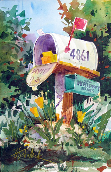 Watercolor painting (photo courtesy of the artist, Gary Schallock)