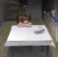 """""""Alma in the Studio"""" is an oil on board by Golucho."""