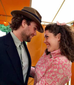 Sweet Bianca (Ahna Dunn Wilder) and her suitor, Lucentio (Andrew Pearce)  photo by Rose Woods