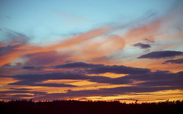 August sunset  (photo by Matt Wilcox)