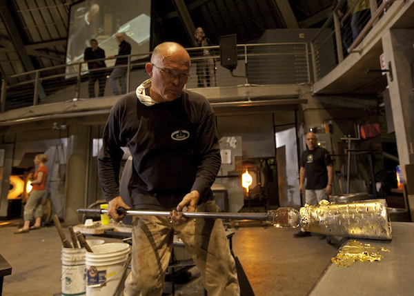 John at the Tacoma Glass Museum (photo credit Russell Johnson)