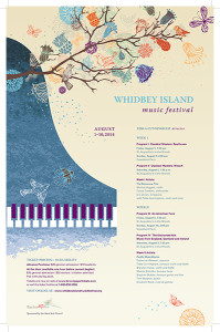 2014 Whidbey Island Music Festival Poster