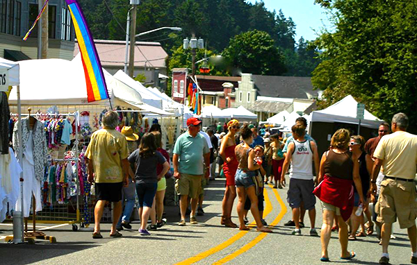 Busy FIrst Street  (photo courtesy of Debra Campbell Designs)